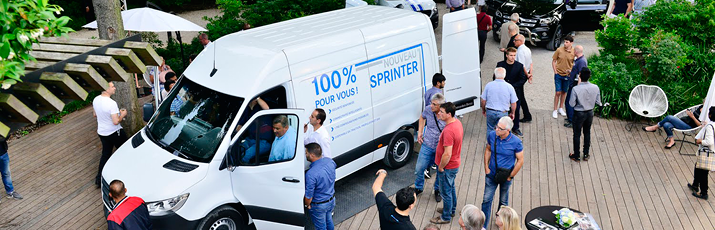 Lancement Sprinter Mercedes-Benz V.I. Paris